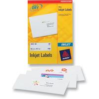 Avery White Mini Label - Inkjet - J8651