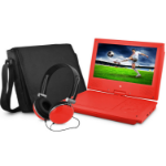 """Ematic 9"""" DVD Player Bundle Red Convertible 9"""" 640 x 234pixels Red"""