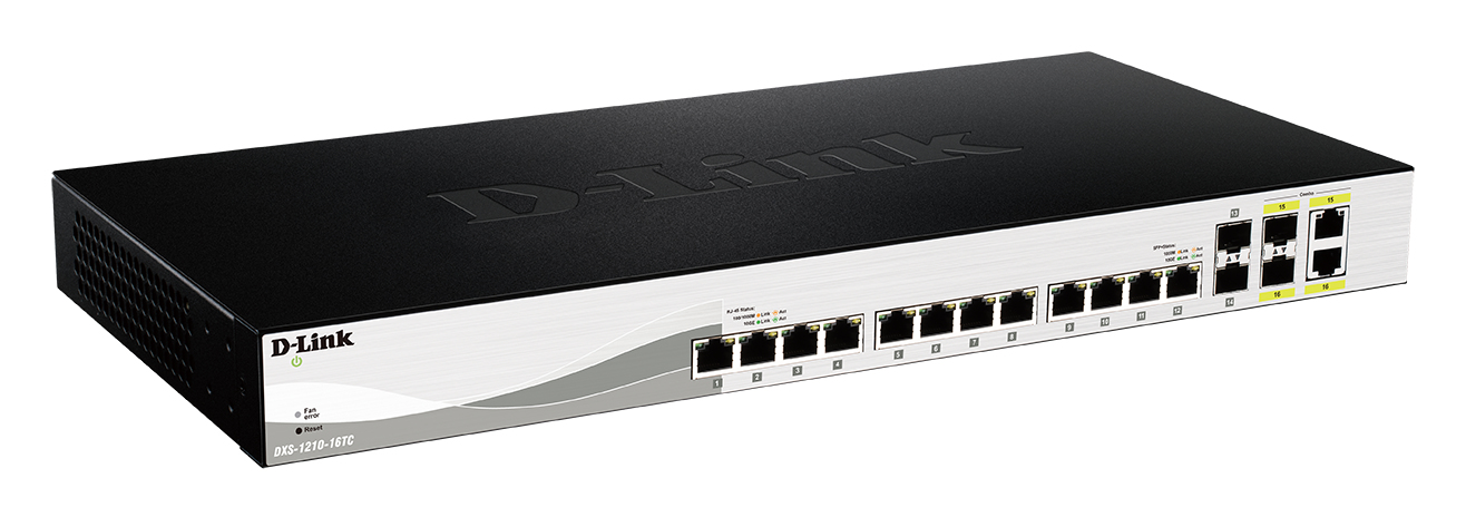 D-Link DXS-1210-16TC Managed L2 10G Ethernet (100/1000/10000) Black network switch