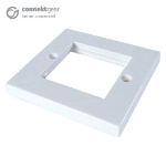 CONNEkT Gear AV Single Faceplate - 2 Module 86 x 86mm Flat Edge - White