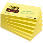 Post-It Super Sticky Notes, 3 in x 5 in, Canary Yellow, 12 Pads/Pack