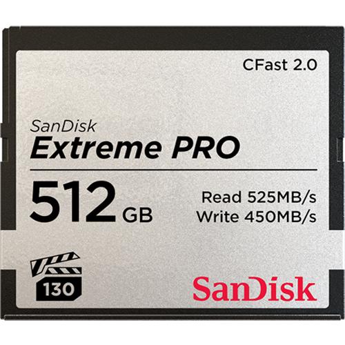 Sandisk Extreme Pro 512GB memoria flash CFast 2.0