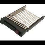 "Origin Storage FK-CQ-PROL-2.5 storage drive enclosure 2.5"" Black, Stainless steel"