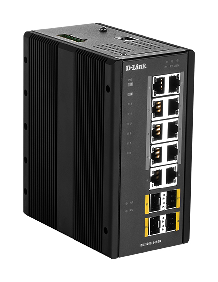 D-Link DIS‑300G‑14PSW Gestionado L2 Gigabit Ethernet (10/100/1000) Negro Energía sobre Ethernet (PoE)