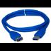 QVS 1.8m USB 3.0 1.8m USB A USB A Male Female Blue USB cable