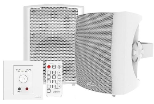 Vision TC3-AMP+SP-1800 loudspeaker 50 W White Wired