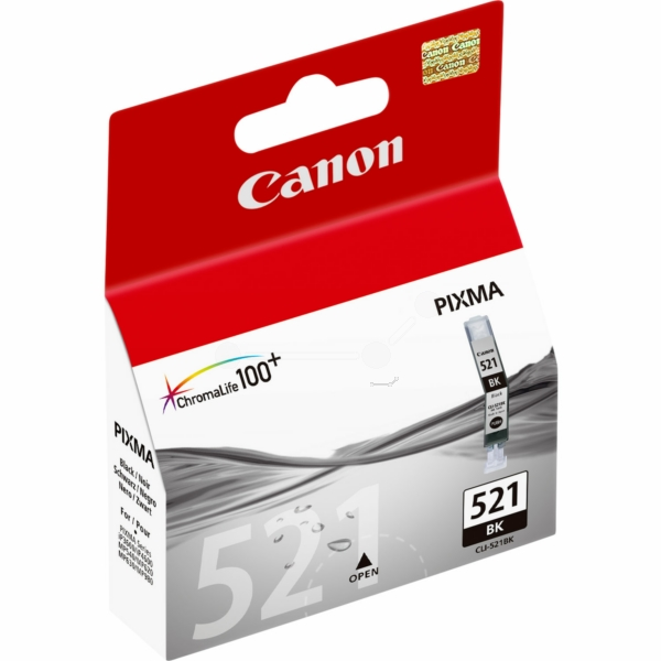Canon 2933B001 (521 BK) Ink cartridge black, 1.25K pages, 9ml