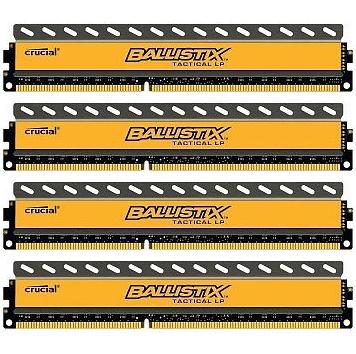 Crucial Ballistix Tactical LP 16GB Kit (4x4GB) DDR3-2133 16GB DDR3 2133MHz memory module