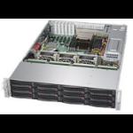 Supermicro 6028R-E1CR12L Intel® C612 LGA 2011 (Socket R) Rack (2U) Black, Silver