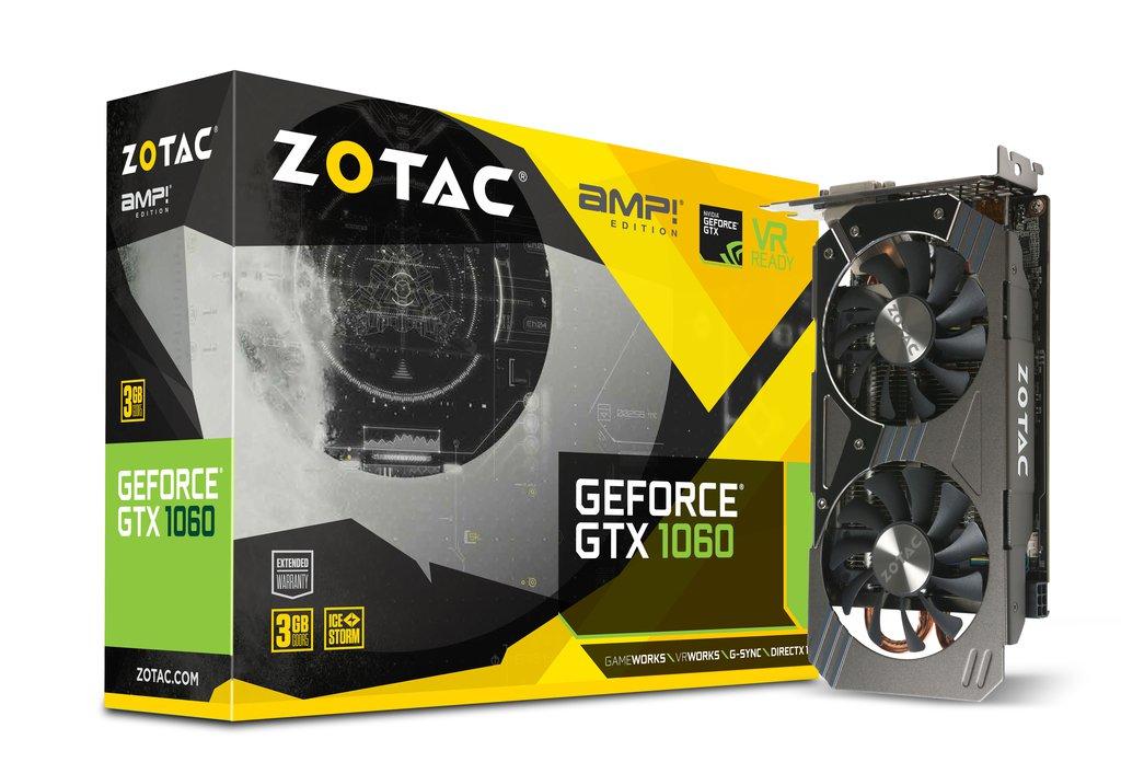 Zotac GeForce GTX 1060 AMP 3 GB GDDR5