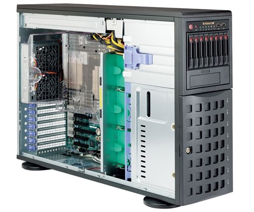 Supermicro SuperServer 7048R-C1R LGA 2011-v3 Rack (4U) Black