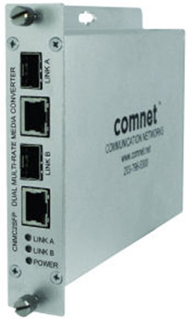 Dual Media Converter, 100mbps/1gbps Multirate Support, 2 Sfp