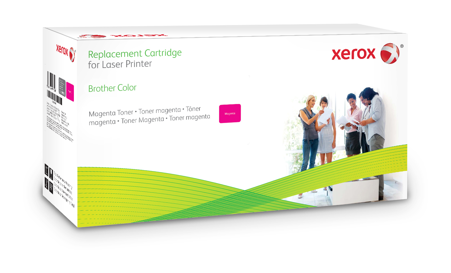 Xerox Cartucho de tóner magenta. Equivalente a Brother TN135M. Compatible con Brother DCP-9040CN/9042CDN/9045CDN, HL-4040CDN/4040CN, 4050CDN/4070CDW, MFC-9440CN/9450CDN, 9840CDW