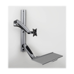 Tripp Lite Single-Display Sit-Stand Wall-Mount Workstation with Thin-Client Mount