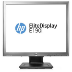 "HP EliteDisplay E190i 18.9"" Meteorite bezel, black chassis,stand"