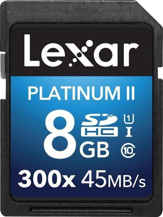 Lexar 8GB Platinum II SDHC UHS-I 8GB SDHC Class 10 memory card