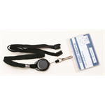 KEVRON LANYARD & REEL KEVRON FOR ID CARDS BREAKAWAY PK25(EACH)