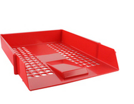 Letter Tray Plastic Red