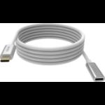 Vision TC 2MUSBCEXT USB Kabel 2 m USB 3.2 Gen 2 (3.1 Gen 2) USB C Weiß