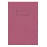 Silvine A4 EXER BOOK 80PG LINED MARG RED