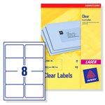 Avery Clear Address Label - Laser - L7565 Transparent