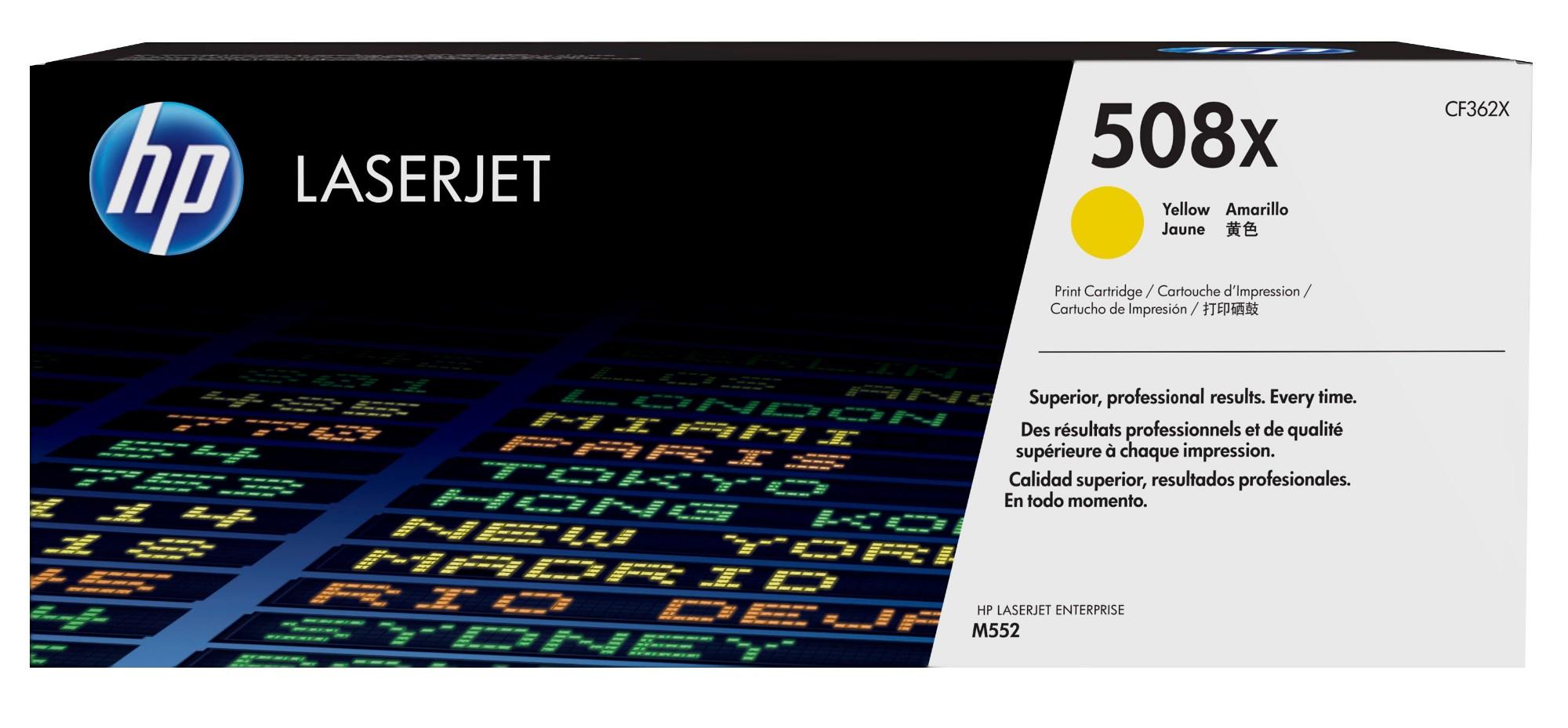 HP 508X Original Amarillo 1 pieza(s)