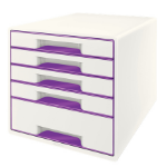 Leitz Wow Cube desk drawer organizer Rubber Purple, White