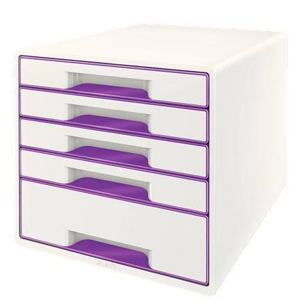 Leitz Wow Cube desk drawer organizer Rubber Purple,White