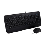 V7 Full Size USB Keyboard with Palm Rest and Ambidextrous Mouse Combo - ES