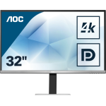 "AOC Essential-line U3277FWQ computer monitor 80 cm (31.5"") 3840 x 2160 pixels 4K Ultra HD LED Black,Silver"
