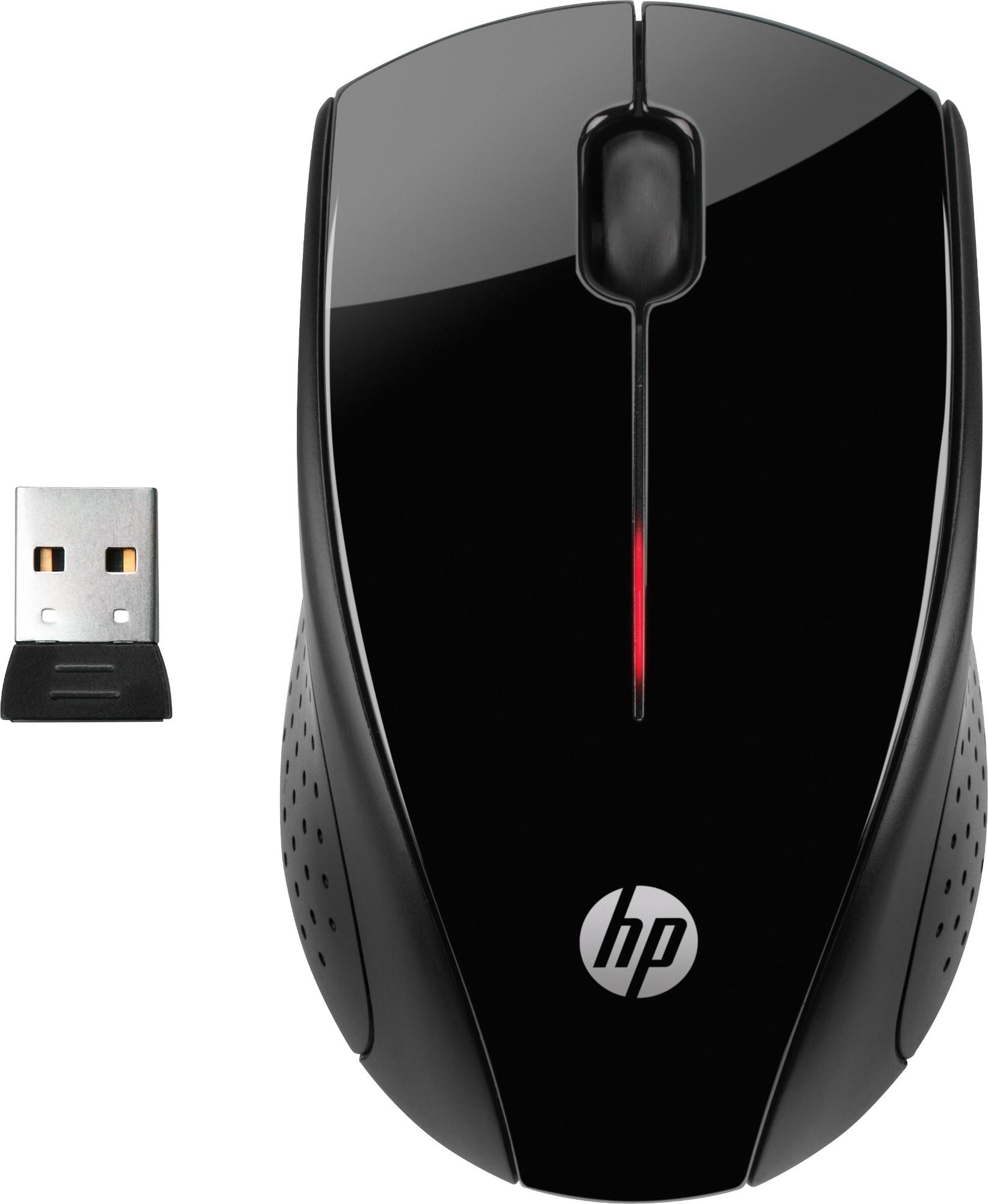 HP X3000 mouse RF Wireless Optical 1200 DPI Ambidextrous