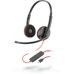 POLY Blackwire 3225 Headset Head-band Black,Red