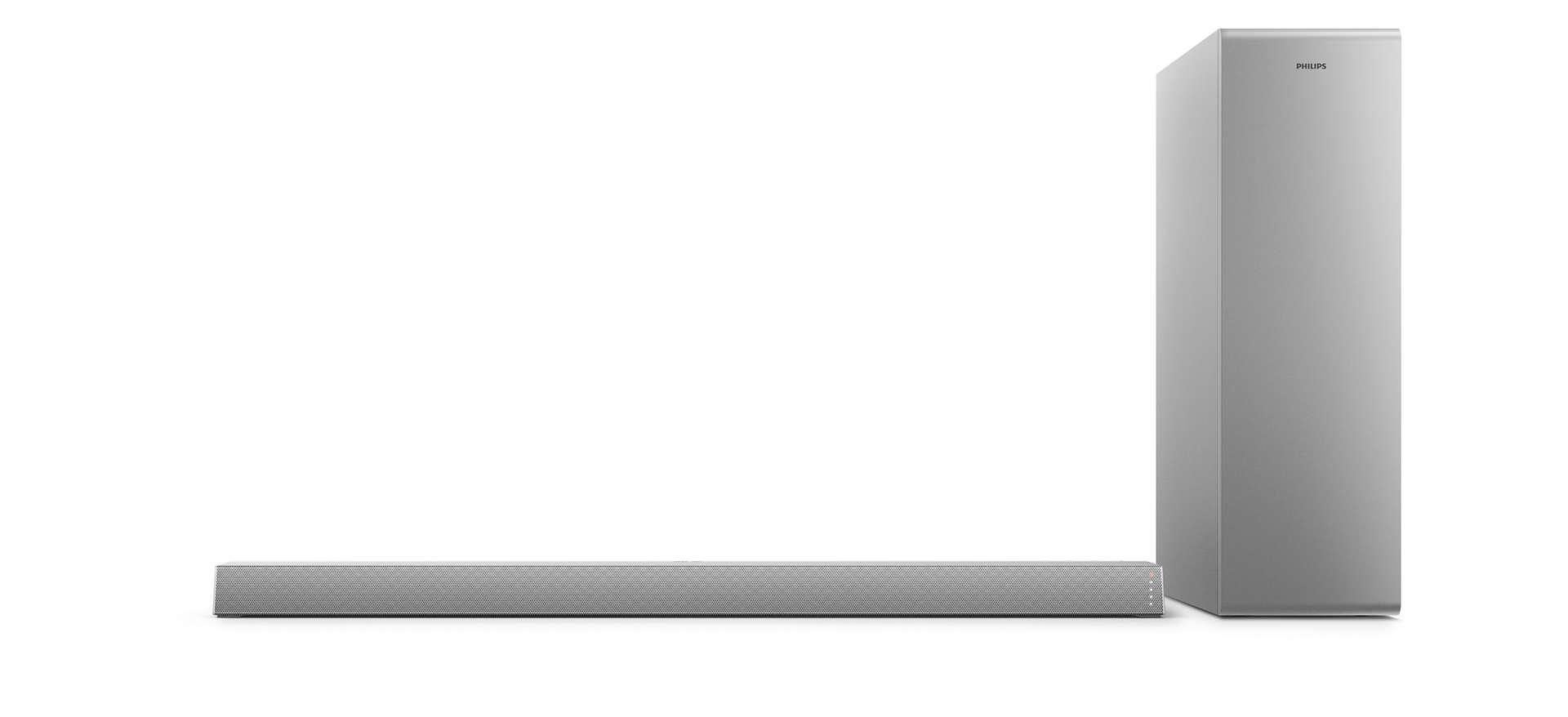 Philips TAB6405 Slim Sound Bar 2.1 CH Wireless Subwoofer