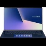 "ASUS ZenBook 14 UX434FAC-AI246T notebook Blue 35.6 cm (14"") 1920 x 1080 pixels Touchscreen 10th gen Intel® Core™ i5 8 GB LPDDR3-SDRAM 256 GB SSD Wi-Fi 6 (802.11ax) Windows 10 Home"