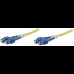 Intellinet Fibre Optic Patch Cable, Duplex, Single-Mode, SC/SC, 9/125 µm, OS2, 1m, LSZH, Yellow, Fiber, Lifetime Warranty