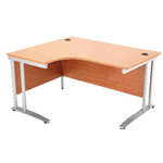 Arista Oak 1800mm Radial Desk Left Hand KF838660