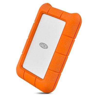 LaCie Rugged USB-C 2000GB Orange,Silver external hard drive