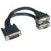 C2G LFH-59 Male to 2 VGA Female Cable 0.22m DMS VGA (D-Sub) Black