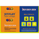JETPLAY T2635 Epson Compatible 4 Colour CMYK Replacement Ink With Extra Black