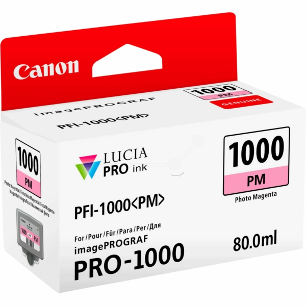 Canon 0551C001 (PFI-1000 PM) Ink cartridge bright magenta, 3.76K pages, 80ml