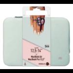 "Mobilis 049005 notebook case 35.6 cm (14"") Sleeve case Grey, Pink"