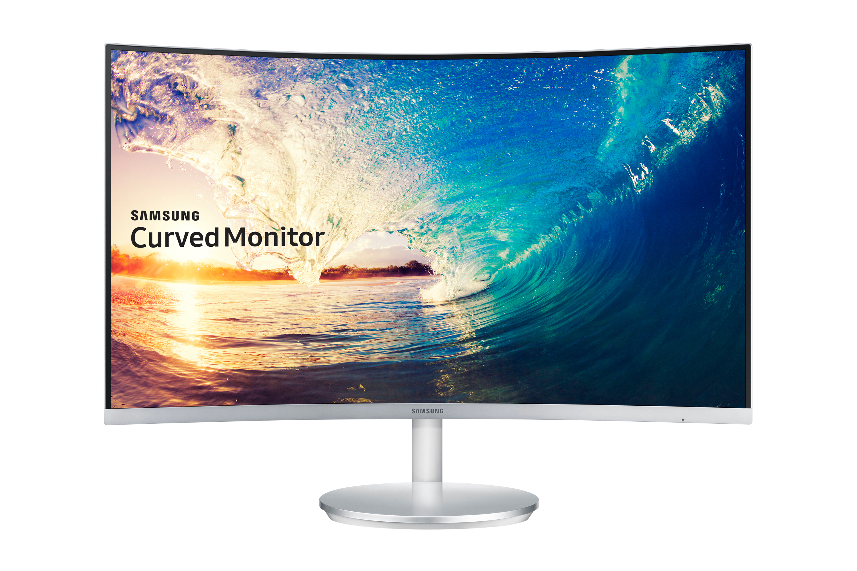 "Samsung C27F591F 27"" Full HD VA Silver,White"