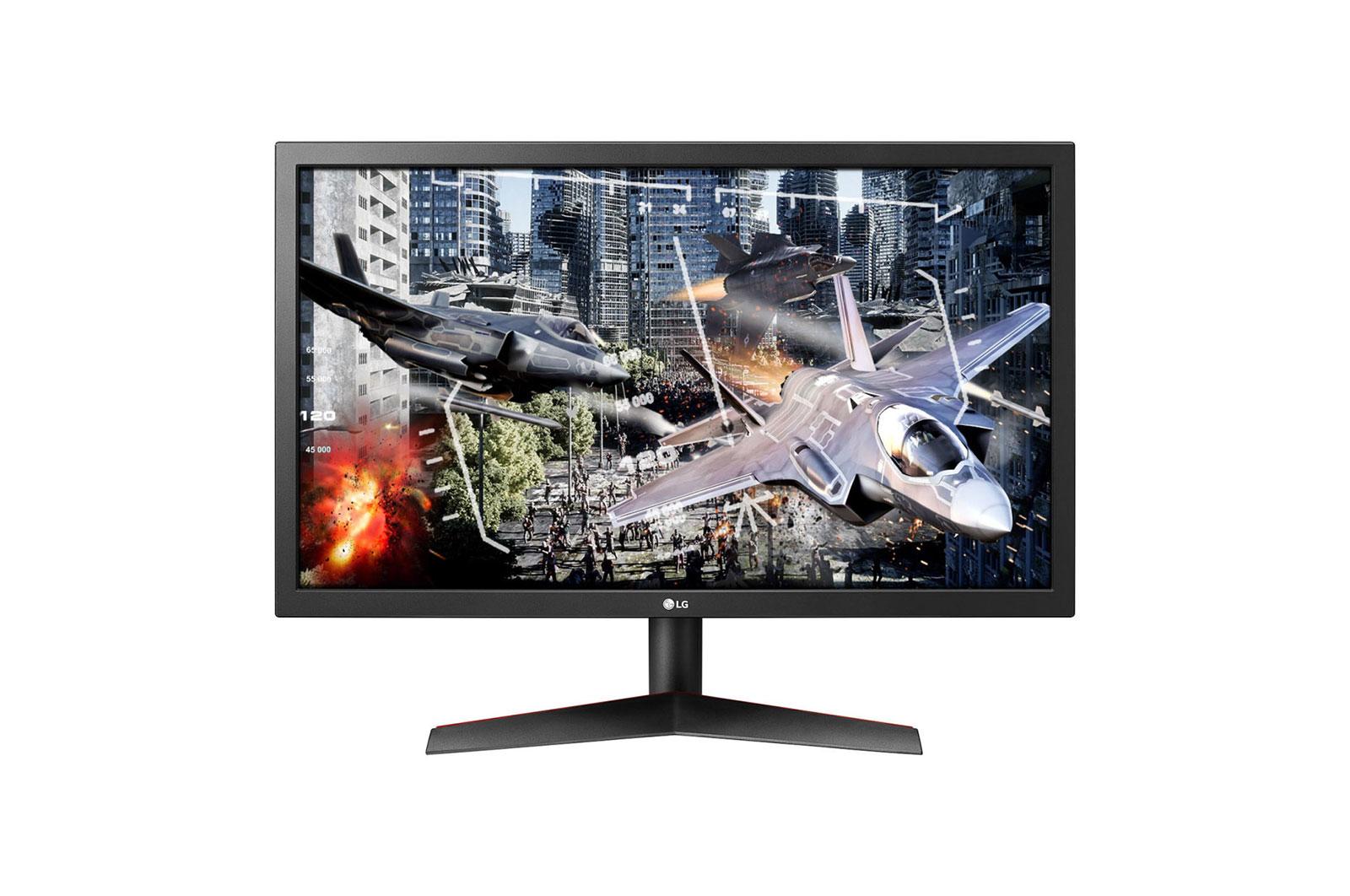 """LG 24GL600F LED display 59.9 cm (23.6"""") Full HD Flat Matt Black,Red"""