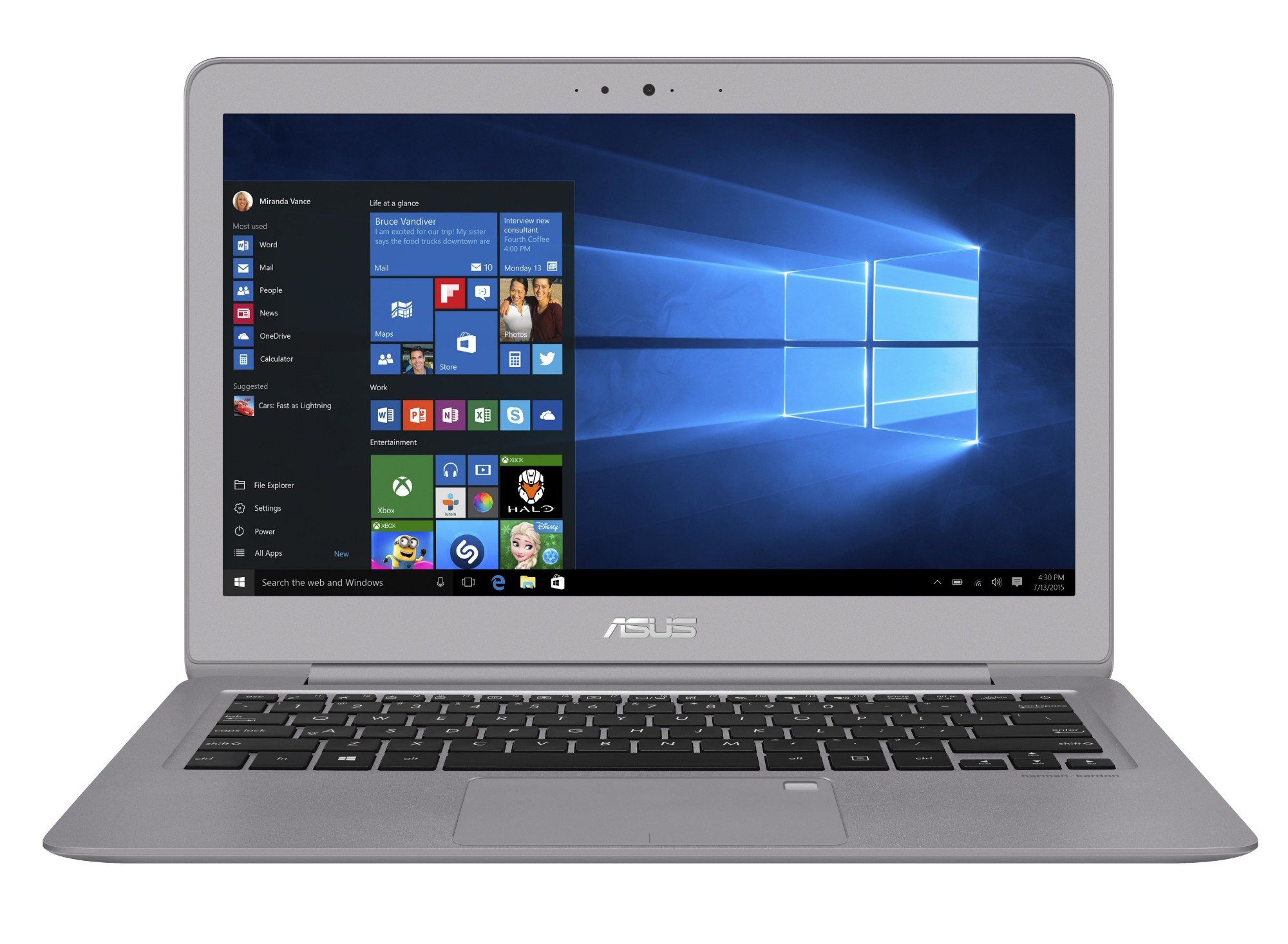 """ASUS ZenBook UX330UA-FC093T 2.5GHz i5-7200U 13.3"""" 1920 x 1080pixels Grey Notebook"""