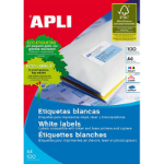 APLI 2785 LABELS A4 14UP SQUARE CORNERS 98.0X 38.0 100 SHEETS