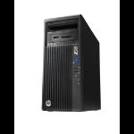 HP 230 MT DDR3-SDRAM E3-1245V3 Mini Tower Intel® Xeon® E3 V3 Family 8 GB 256 GB SSD Windows 7 Professional Workstation Black