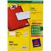 Avery L7651-25 printer label White