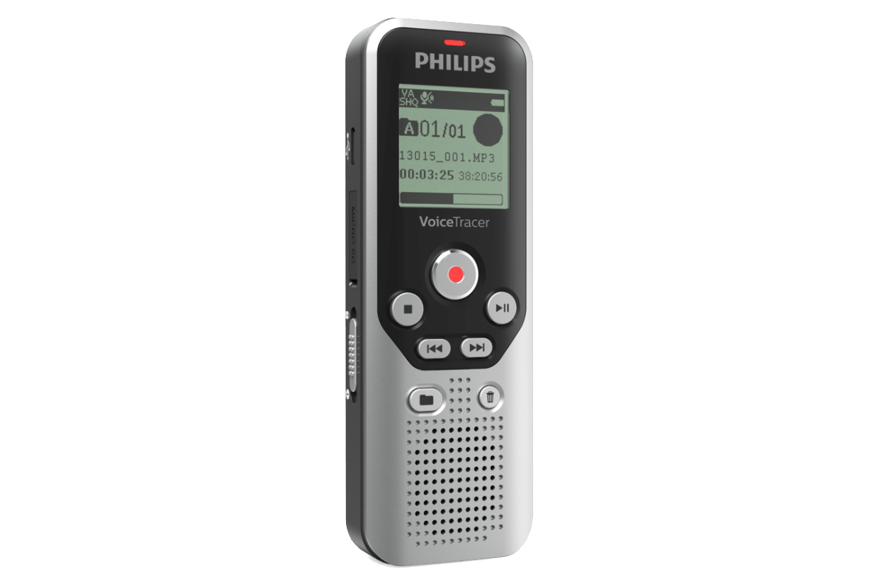PHILIPS DVT1250 8GB DIGITAL VOICETRACER AUDIO RECORDER DARK SILVER/BLACK