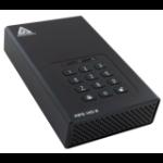 Apricorn Aegis Padlock DT FIPS external hard drive 8000 GB Black