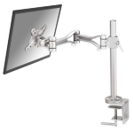 "Newstar Full Motion Desk Mount (clamp) for 10-30"" Monitor Screen, Height Adjustable - Silver"